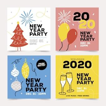 Collection de messages instagram du nouvel an 2020