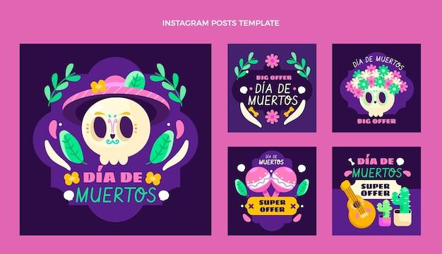 Collection de messages instagram flat dia de muertos