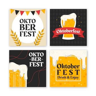 Collection de messages instagram oktoberfest dessinés à la main