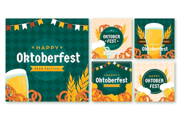 Collection de messages instagram plats oktoberfest