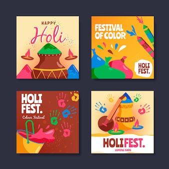 Collection de messages instagram pour le festival de holi