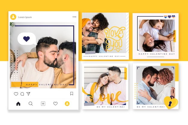 Collection de messages instagram pour la saint-valentin