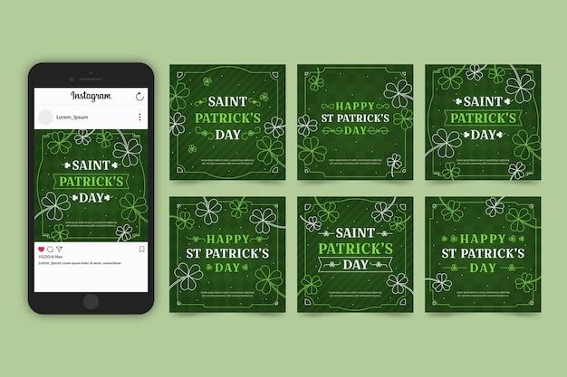 Collection de messages instagram de la saint-patrick