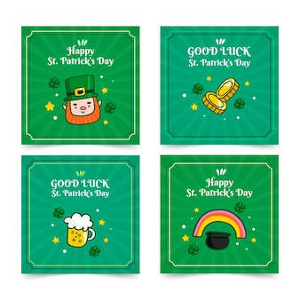 Collection de messages instagram de la saint-patrick