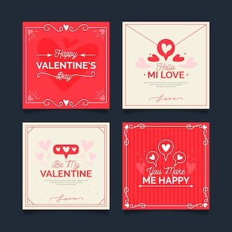 Collection de messages instagram de la saint-valentin