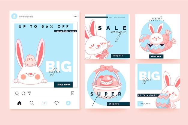 Collection de messages instagram sur le thème du jour de pâques