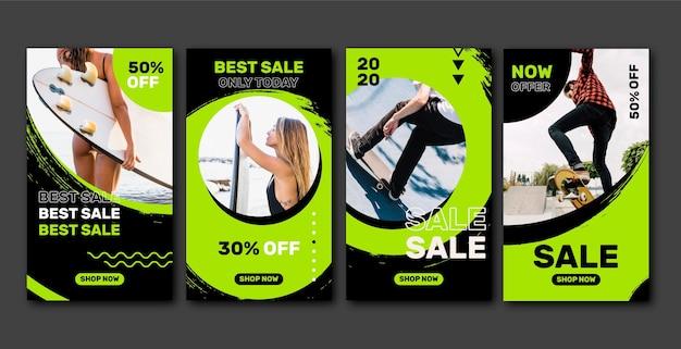 Collection de messages instagram sur la vente d'acide