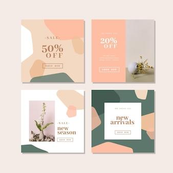 Collection de messages instagram de vente biologique