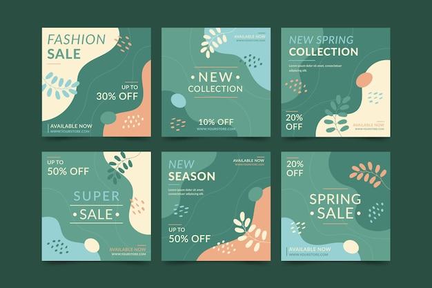 Collection de messages instagram de vente de mode
