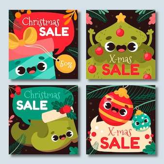 Collection de messages instagram de vente de noël