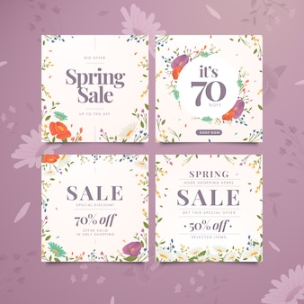 Collection de messages instagram de vente de printemps