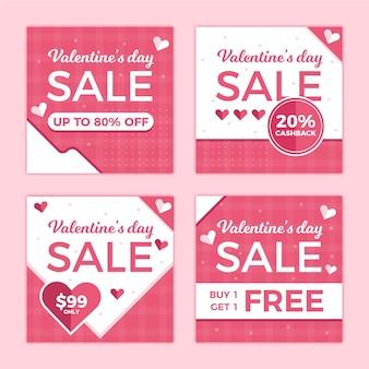 Collection de messages instagram vente saint valentin