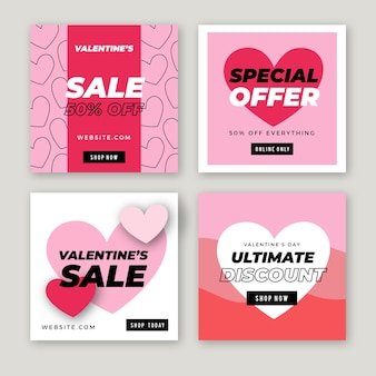 Collection de messages instagram vente saint valentin