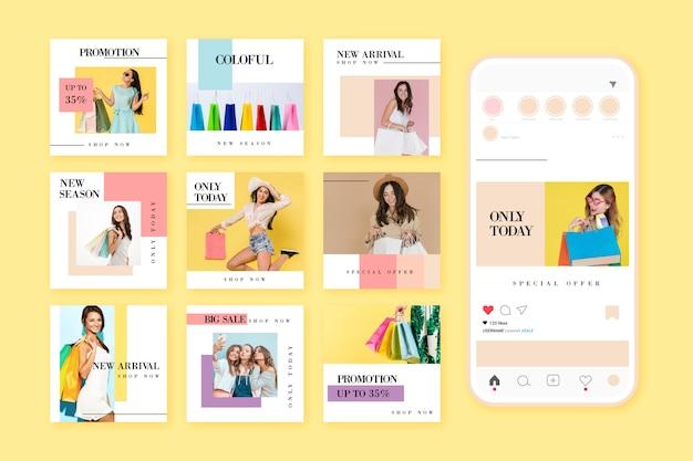 Collection de messages instagram de vente