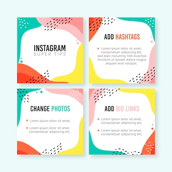 Collection de messages instagram