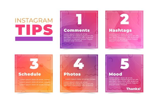 Collection de messages instagram