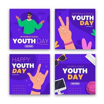 Collection de messages de la journée internationale de la jeunesse
