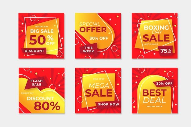 Collection de messages de vente instagram boxing day