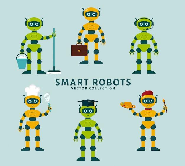 Collection de métiers du robot.