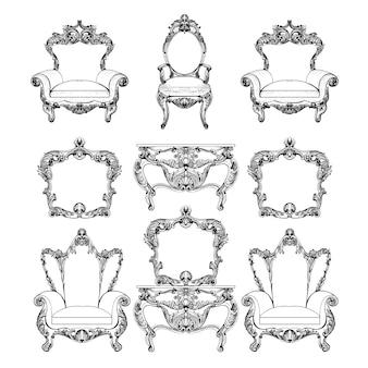 Collection de meubles barroque