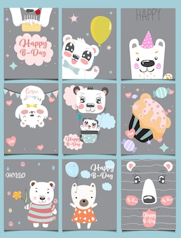 Collection de mignons oursons