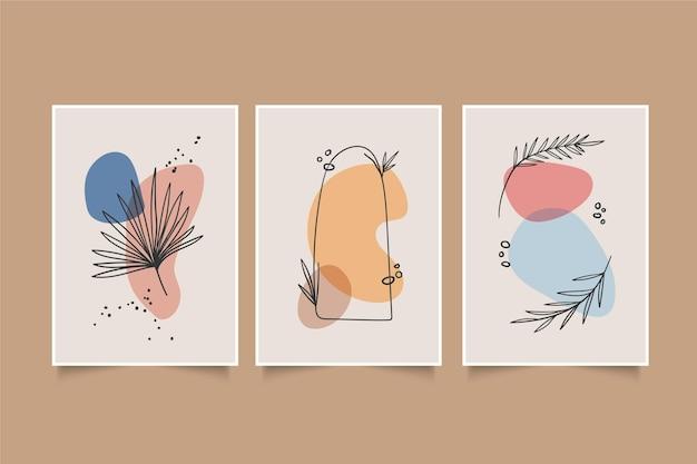 Collection minimale de couvertures dessinées à la main