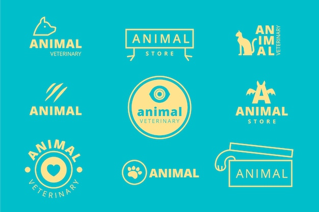 Collection minimale de logos en deux couleurs