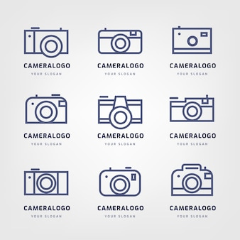 Collection minimaliste de logo de caméra minimaliste