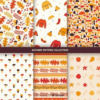 Collection de modèle automne dessiné à la main