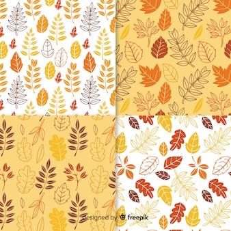 Collection de modèle automne dessiné à la main