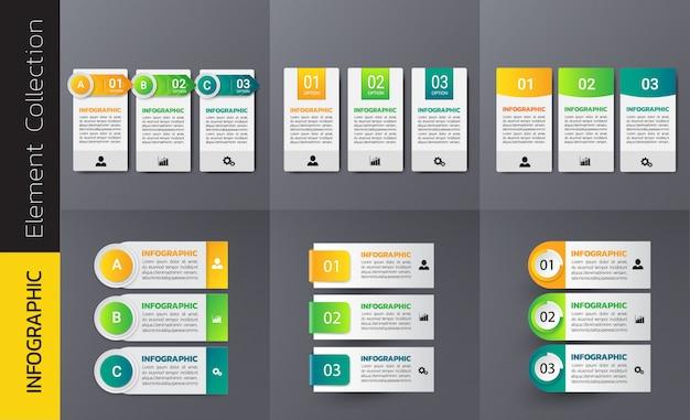 Collection de modèle de conception infographique