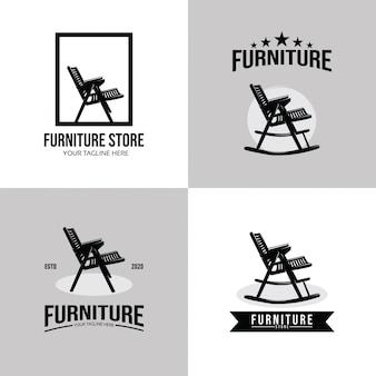 Collection de modèle de conception de jeu de logo de meubles