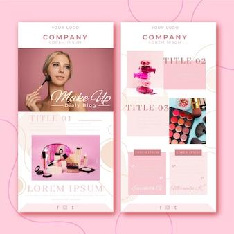 Collection de modèle d'e-mail de blogueur avec photos
