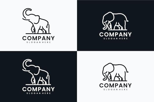 Collection de modèle d'éléphant géant, inspiration de conception de logo