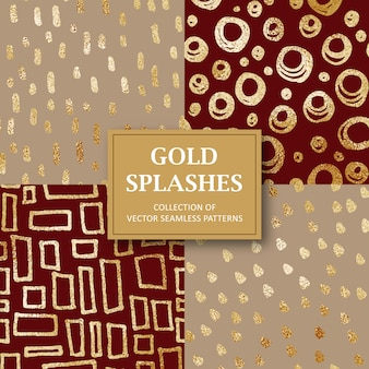 Collection de modèle de forme abstraite de paillettes d'or sans soudure