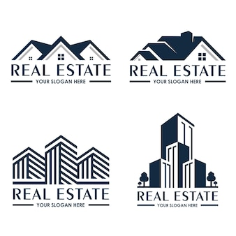 Collection de modèle de logo immobilier