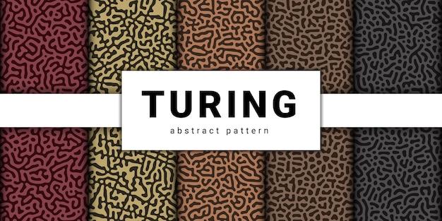 Collection de modèle sans couture abstraite de turing.