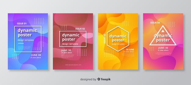 Collection de modèles d'affiches dynamiques