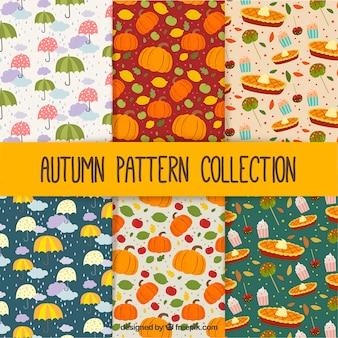 Collection de modèles d'automne
