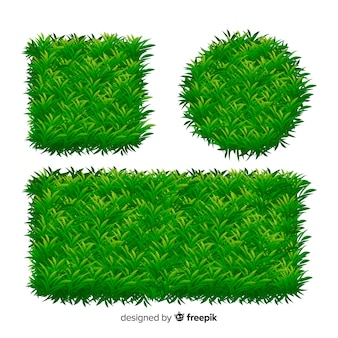 Collection de modèles de bannière d'herbe réaliste