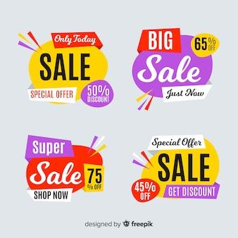 Collection de modèles de bannière de vente abstraite