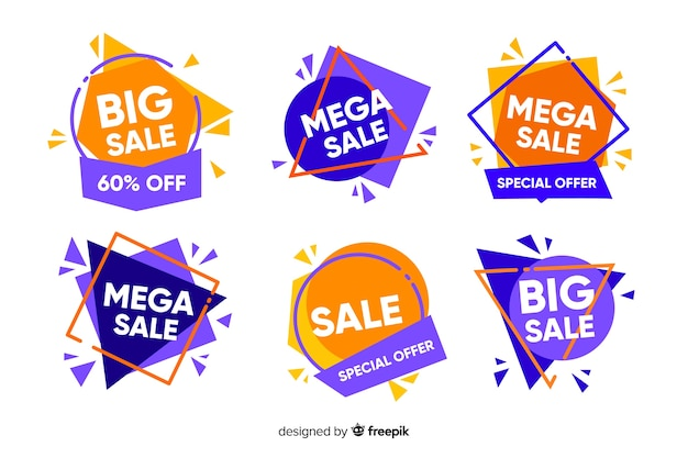 Collection de modèles de bannières de vente abstraite