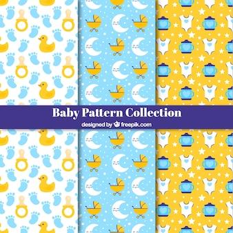 Collection de modèles de bébé avec des éléments plats