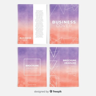 Collection de modèles de brochures aquarelle