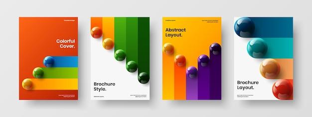 Collection de modèles de brochures orbes 3d minimalistes