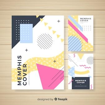 Collection de modèles de brochures de style memphis