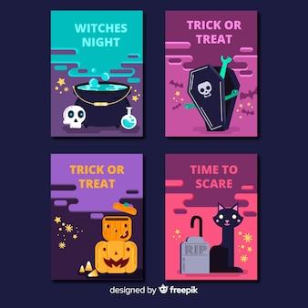 Collection de modèles de carte halloween créative