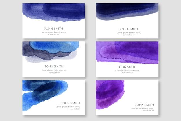 Collection de modèles de cartes de visite aquarelle