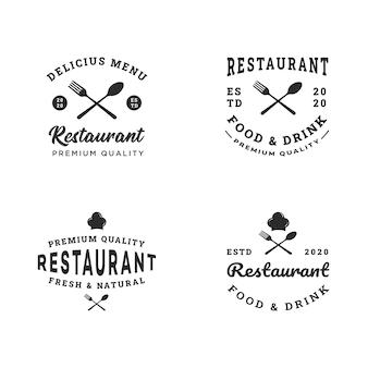Collection de modèles de conception de logo de restaurant moderne