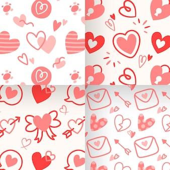 Collection de modèles de conception plate saint valentin
